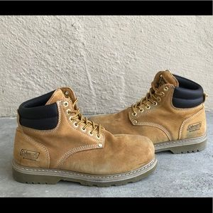 826db2fc956 Coleman Workman Steel Toe boots Sz 9